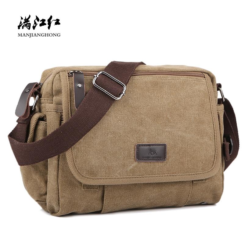 Casual Canvas Men Small Shoulder Bag Satchel Vintage Retro Crossbody Sling Bag For Men Leisure Male Messenger Bags Handbag 1106 shoulder bag