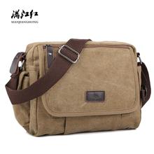 Casual Canvas Men Small Shoulder Bag Satchel Vintage Retro Crossbody Sling Bag For Men Leisure Male Messenger Bags Handbag 1106