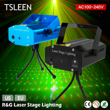 Promo offer TSLEEN Mini LED Laser Pointer DJ Disco Stage Light Christmas Party Pattern Lighting Projector Show+EU/US Plug+ Tripod Stand