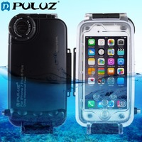 PULUZ עבור iPhone 6 s & iPhone 6 40 m/130ft שיכון צלילה עמיד למים מגן Case תמונה לקיחת וידאו מקרה כיסוי מתחת למים