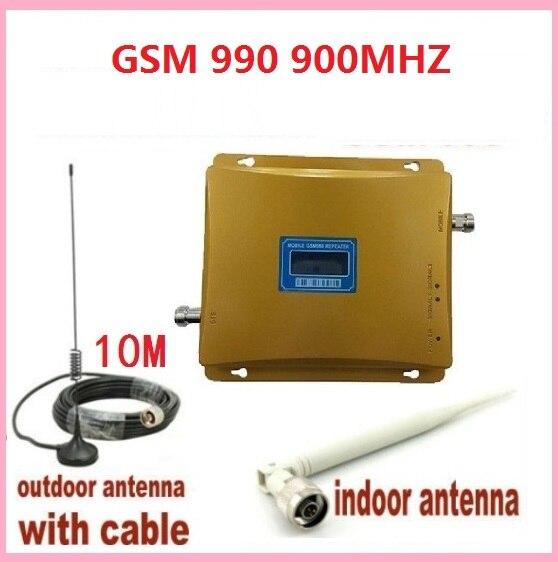 Écran LCD GSM 900 Mhz téléphone portable GSM990 amplificateur de Signal, répéteur de Signal de téléphone portable, amplificateur de Signal + antenne extérieure + câble