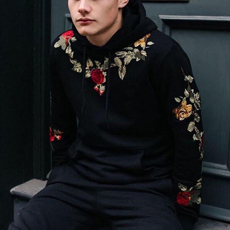 Huation 2018 nuevo Tracksuit hombres blanco Hooded Hoodies hombres Hip Hop Streetwear sudadera impreso Fleece con capucha moletom masculino