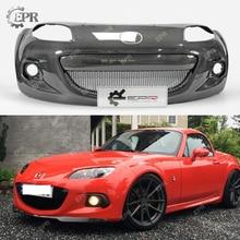 Carbon Bumper For Mazda MX5 Roaster Miata NC3 OEM Fiber Front Sets(3pcs) With Grille&Fog Light Cover