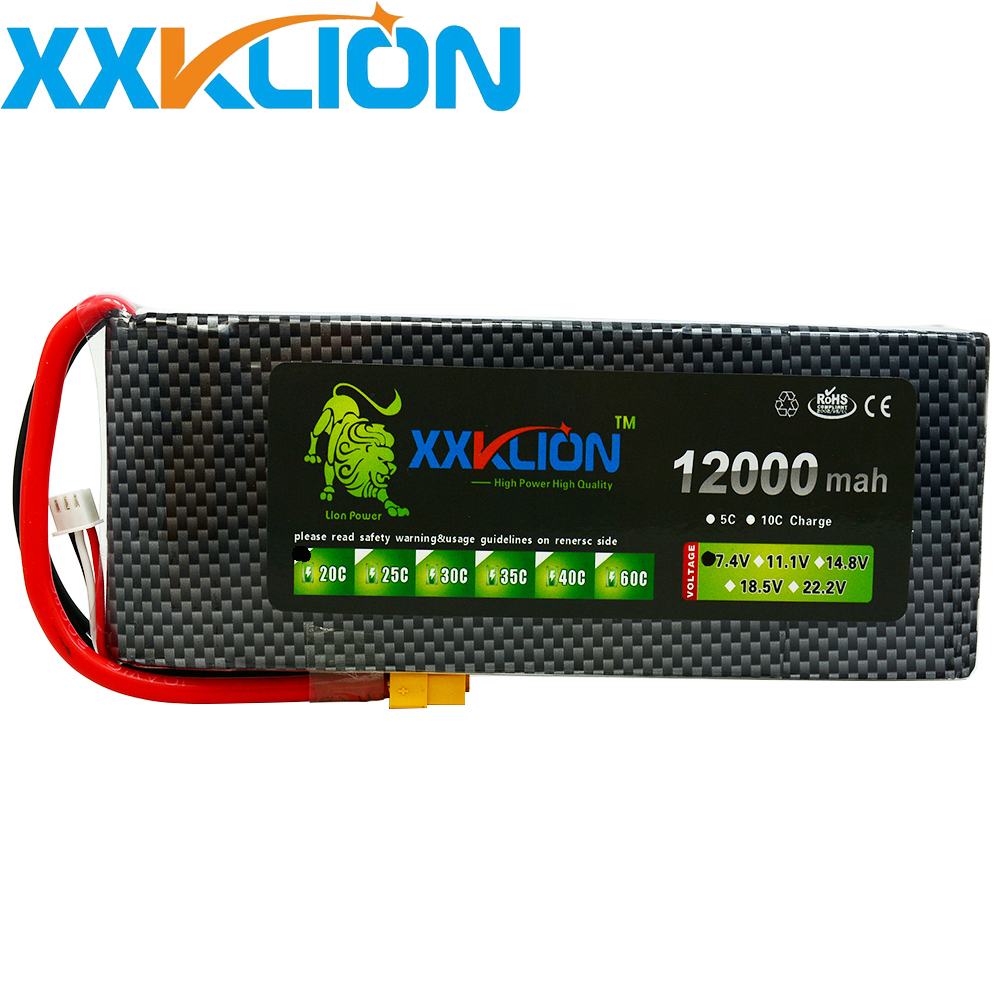 XXKLION Lipo drone battery pack7.4v 12000mAh 20C 2s for rc airplane Aerial multi - axis unmanned aerial vehicle Free ShippingXXKLION Lipo drone battery pack7.4v 12000mAh 20C 2s for rc airplane Aerial multi - axis unmanned aerial vehicle Free Shipping