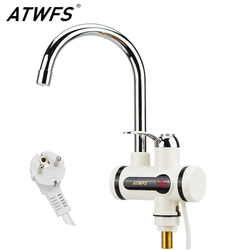 ATWFS Мгновенный водонагреватель без резервуара кран мгновенный кран кухонный водонагреватель кран мгновенный кран для горячей воды цифрово...