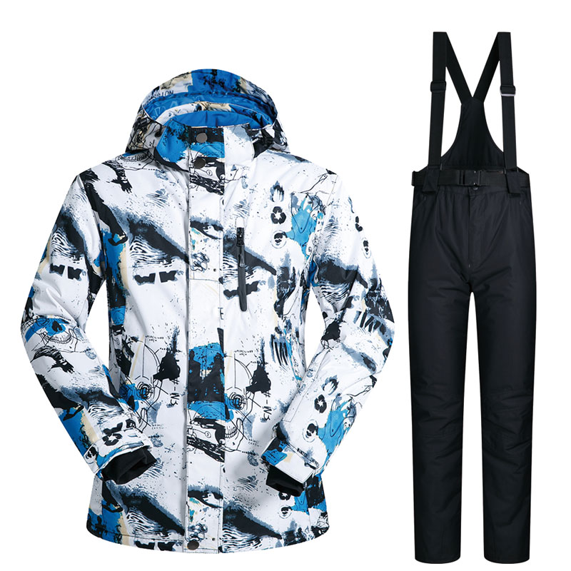 Ski Suit Men Winter New Outdoor Windproof Waterproof Thermal Snow Jacket And Pants Clothes Skiing And