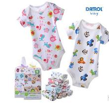 2016 5pcs/lot 100%Cotton Baby Girl Romper Body Baby Clothing Branded Newborn Summer Boy Girl Jumpsuits Body Infantil Clothes
