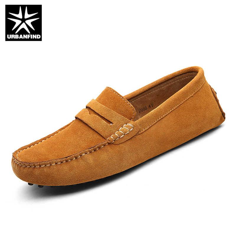 ผู้ชายรองเท้าลำลองผู้ชาย 2018 รองเท้าแฟชั่นผู้ชายรองเท้าหนังผู้ชาย Loafers Slip บนรองเท้า Loafers ชายรองเท้า