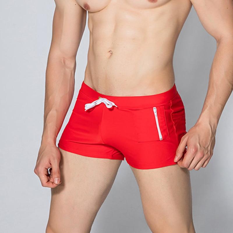 GANYANR Merk Mannelijke Zwembroek Sexy Mannen Badmode Badpakken Surf - Sportkleding en accessoires - Foto 2