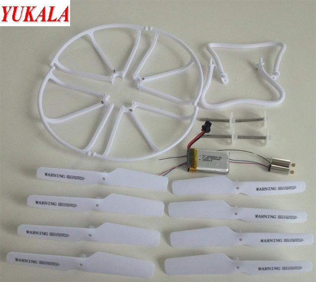 YUKALA F183/ H8C 2.4G 4ch 6 Axis RC Quadcopter RC drone parts main motor*2+gears*4+propeller*8pcs+ battery*1 ect free shipping