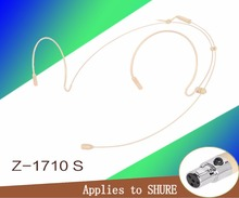 Frete Grátis Flesh Cor Mini XLR 4 Pinos Conector 4PIN TA4F Plug Headset Microfone SHURE Para Transmissor portátil Sem Fio