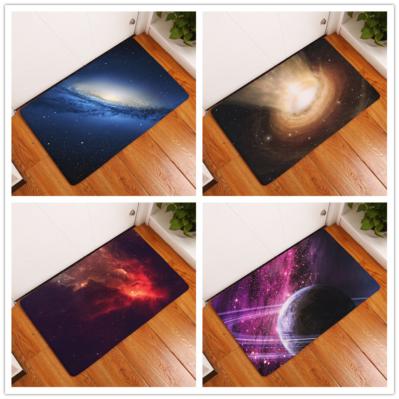 2017 New Home Decor Star Galaxy Carpets Non Slip Kitchen Rugs For Home Living Room