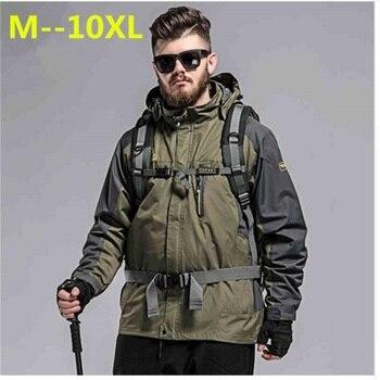 plus 10XL 9XL 8XL 6XL 5XL 2017 New Men's Casual Jackets Man's Army Waterproof Coats Male Jacket Breathable Windproof Raincoat