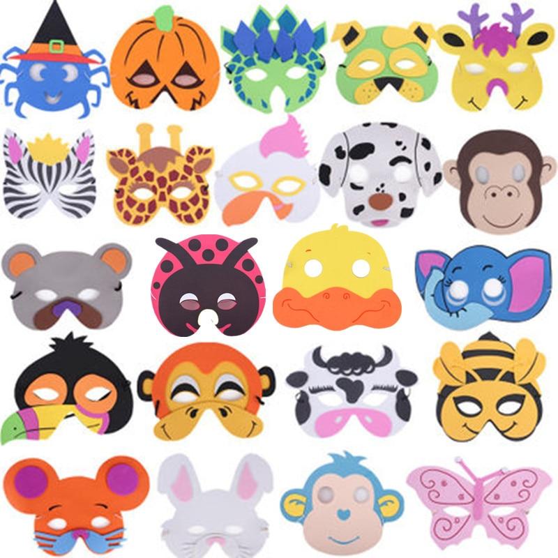 Children Boy Girl Cartoon Animal EVA Masks Kids Stage Performance Party Mask Preschool Education Game Show Props Masks