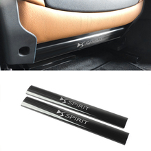 Anti-scratch pad For Citroen DS7 Spirit Rear Seat anti-kick plate anti-scratch  stainless steel Rubber ending trim 2pcs