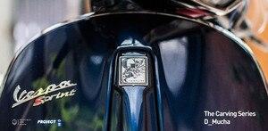 Image 5 - Dla vespa panel przedni logo łatka ze stopu aluminium naklejka tabliczka znamionowa