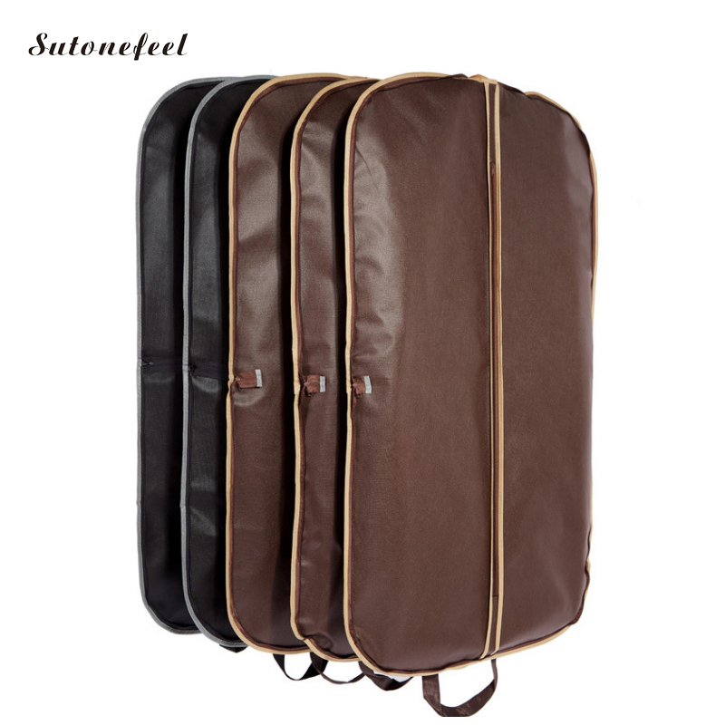 121cm Men Suit Cover Bags Clothes Hanging Protector Suit Garment Dust Covers Travel Coat Cover Case Zipper Storage Pouch