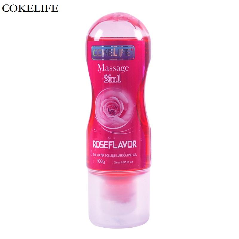 COKELIFE Sexo Grease Rose Flavor Water Soluble lubricant For Sex Vagina Anal Gel Lube Thick Lasting Moist 100