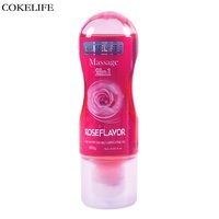COKELIFE Sexo Grease Rose Flavor Water Soluble Lubricant For Sex Vagina Anal Gel Lube Thick Lasting