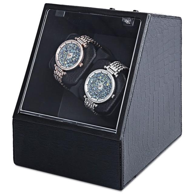 New Luxury Watch Box Automatic Watch Winder Display Collection Storage Case Watch Organizer Boxes Holder Watch Winders US Plug | Watch Boxes