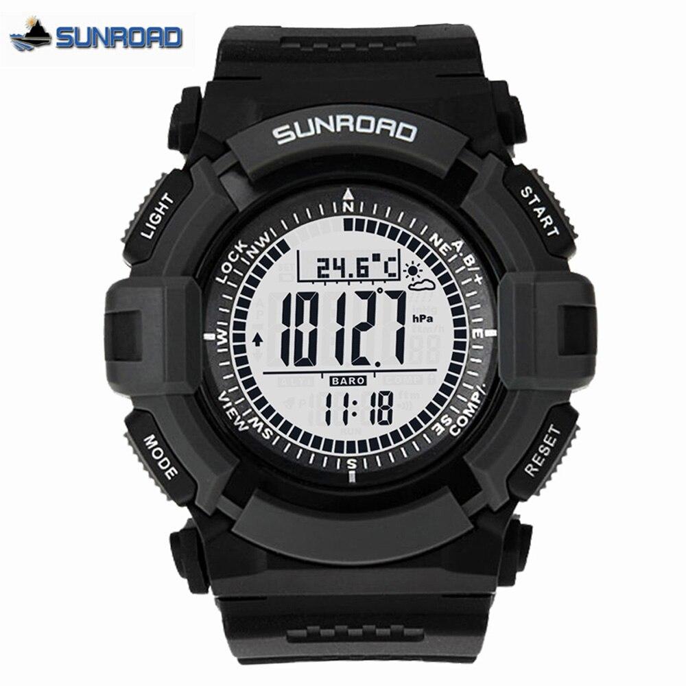 Sunroad FR821A светодио дный спортивные часы Для мужчин Водонепроницаемый спортивные Для мужчин s часы наручные часы компас секундомер мужской ча...