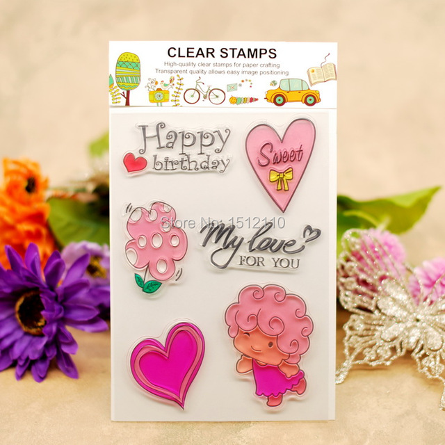 Scrapbook Diy Photo Cards Account Rubber Stamp Clear Stamp