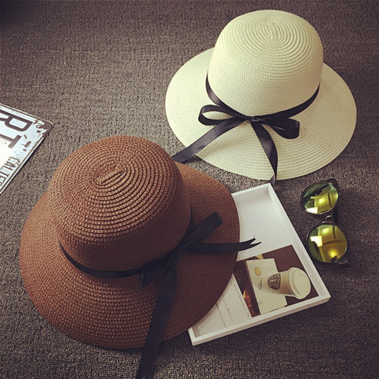 b300efaaf2d New Summer Chic Straw Panama Hats Lady Derby Sun Bowler Bucket Hat Beach Straw  Hat Chapeau Feminino For Women Fedora Hat Caps