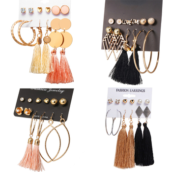 6 Pcs Earrings Set