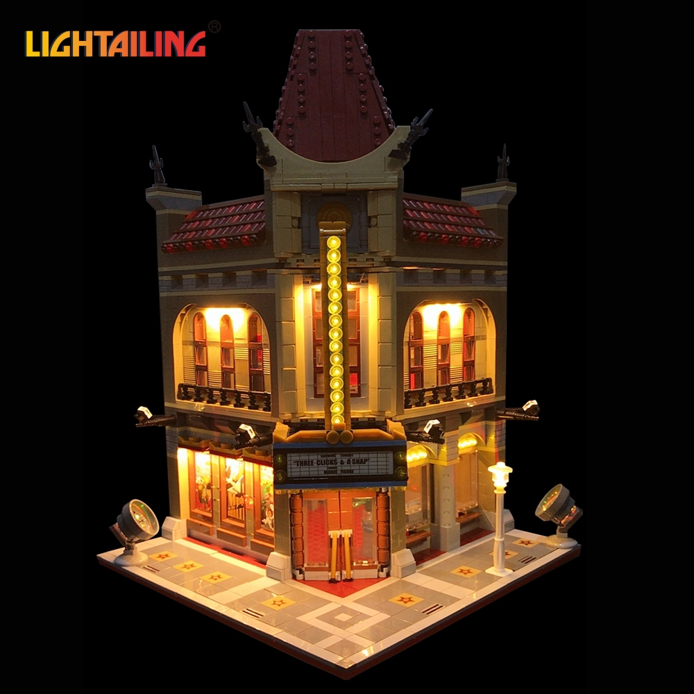LIGHTAILING Led Light Up Kit For Creator City Street Palace Cinema Building Block Toy Light Set Compatible With 10232 And 15006 led light up kit gor city model building block figures accessories kit toys for children compatible with lepin