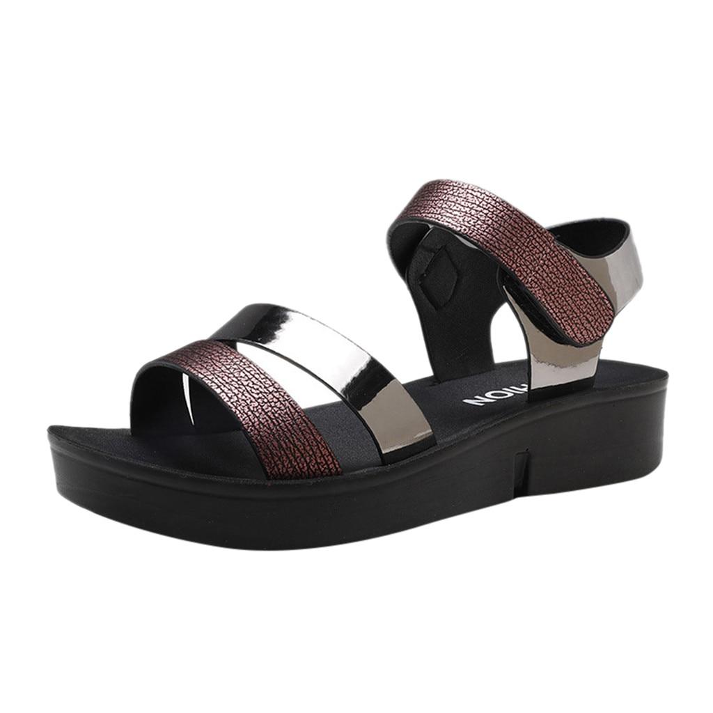 SAGACE Women's Sandals Leather Peep Toe Women Sandals New Simple Solid Summer Shoes Women Sandals High Heels Sandals 941624
