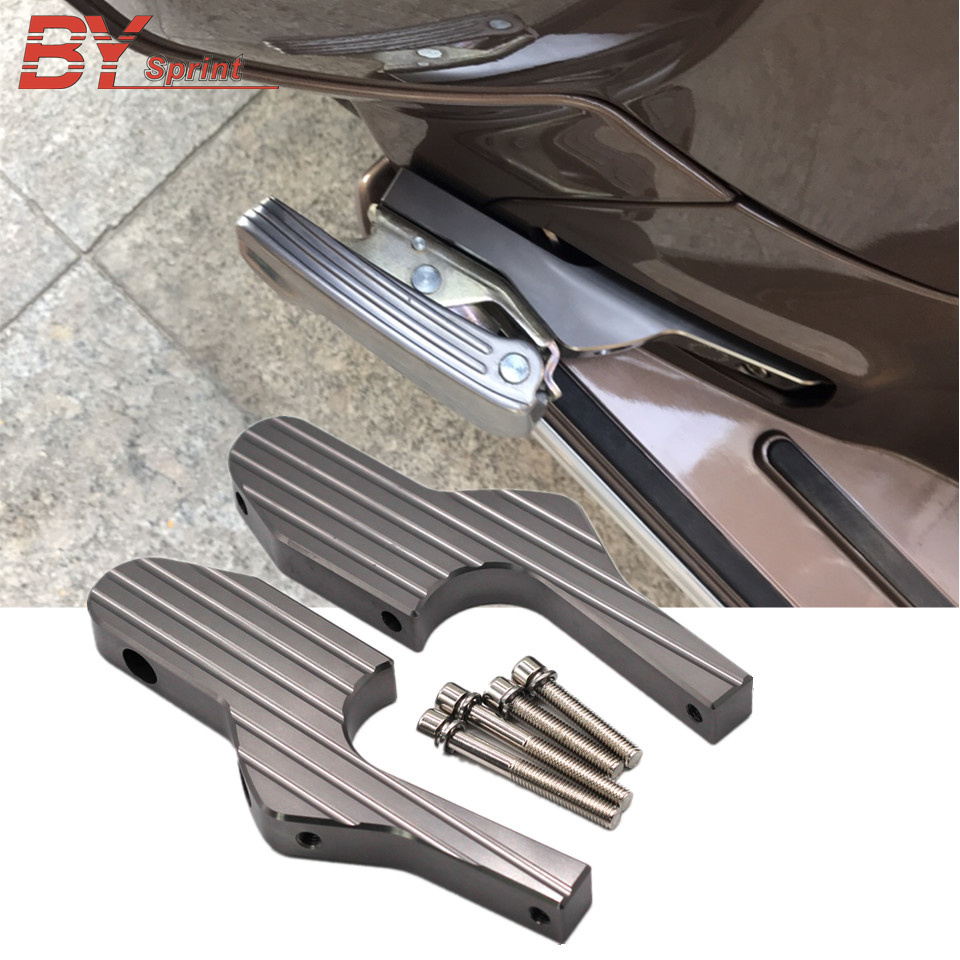Motorcycle CNC Accessories Passenger Foot Peg Extensions Extended Foot Rests For Vespa GT GTS GTV 60
