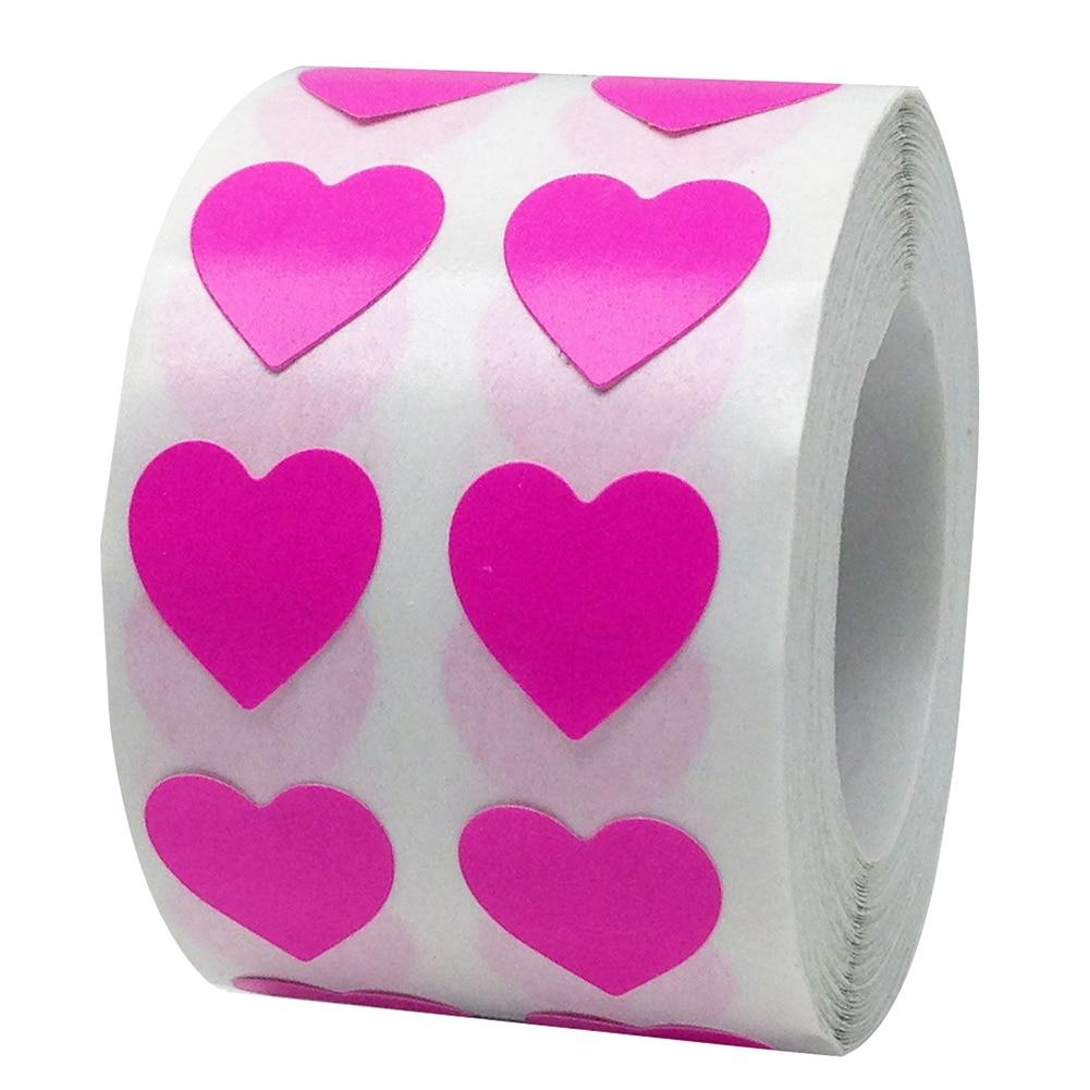 Рулон Любовь Сердце этикетки наклейки свадебный подарок упаковка герметизация Искусство Наклейка упаковка мешок - Цвет: Rose Red