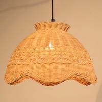 Bamboo and rattan pendant lights creative attic garden decoration lighting handmade restaurant study cafe pendant lamps ZA zb5