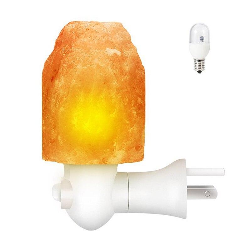 Himalayan Salt Night Light Lamp US Plug Natural Multi-color Change ,Mini Hand Carved Night Light for Home Air Purifier Crystal