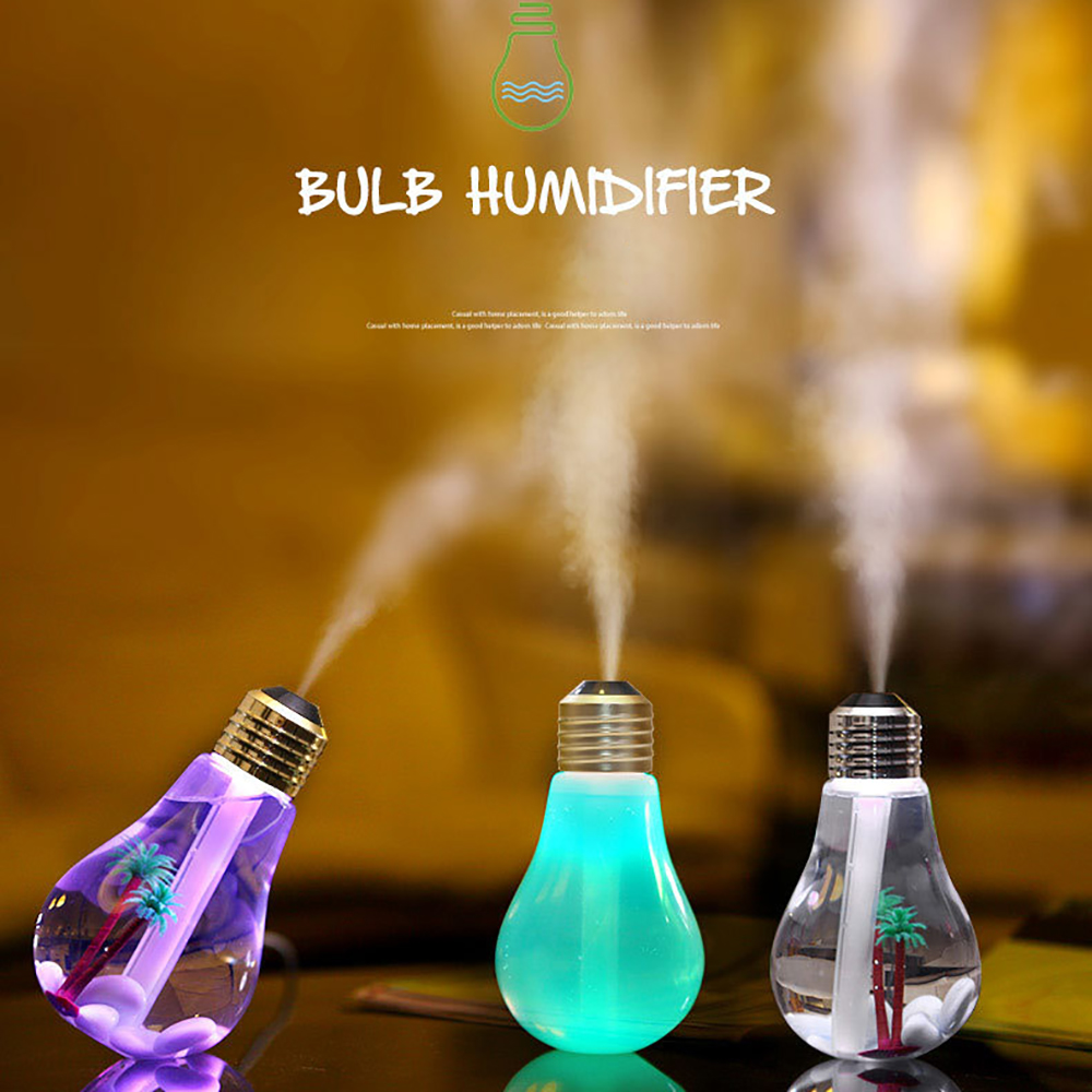 New Mini Bulb Design USB Aromatherapy Air Humidifier 7 Colors LED Light Essential Oil Aroma Diffuser Home Office Mist Maker цена