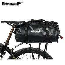 Rhinowalk Bicycle Luggage Bags 20L Full Waterproof Bike Rear Rack Trunk Cycling Saddle Storage Pannier Multi-Function Travel Bag цена