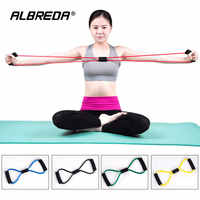 ALBREDA New Elastic pilate Sport Exercise Workout fitness Equipment loop Stretch expande Belt Pull Strap Resistance pull rope