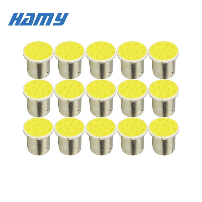 10x P21W 1157 BAY15D 1156 Ba15S Car LED Light Signal Bulb COB Super Bright Auto Turn Tail Reverse Parking Brake Lamp 12V 12SMD