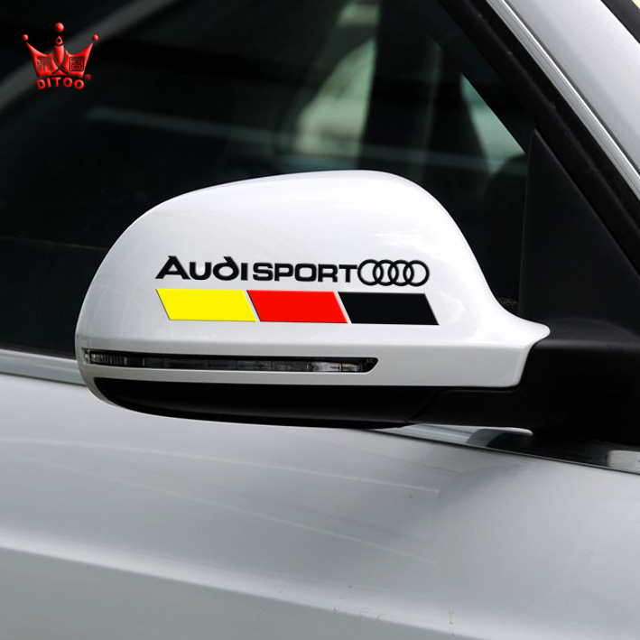 2pcs Lot Rearview Mirror Car Styling Sports Stickers Car Logo 3