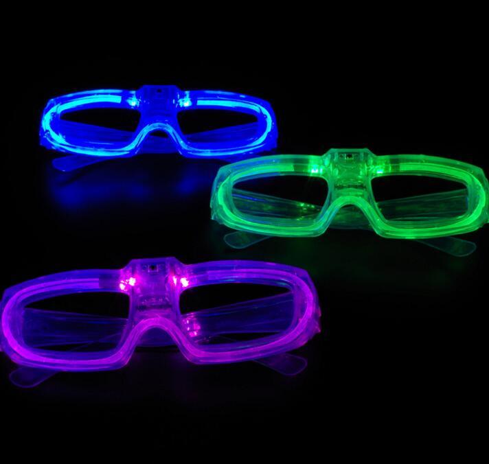 e13d87652b0b6 Óculos partido do obturador Levou brilho de luz fria luz up shades rave do  flash luminoso óculos adereços atmosfera festiva Do Natal favores