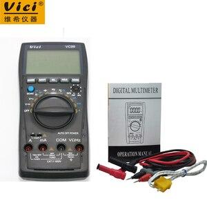 Vici VC99 3 6/7 Auto range digital multimeter voltmeter ammeter & Thermal Couple TK cable ACV/DCV/ACA/DCA