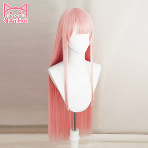 Image 2 - 【AniHut】02 Zero Two Cosplay Wig Anime DARLING in the FRANXX Cosplay Wig Pink Synthetic Hair 02 DARLING in the FRANXX Hair Women