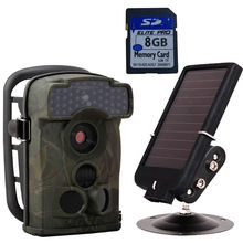 Free Shipping! 8GB Card Ltl Acorn 5310A 12MP Infrared Trail Scouting Hunting Camera+Solar Battery