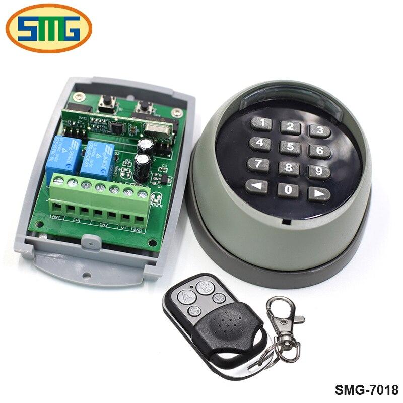 433 mhz Sans Fil Clavier mot de passe commutateur Universel télécommande et récepteur pour porte porte de contrôle d'accès