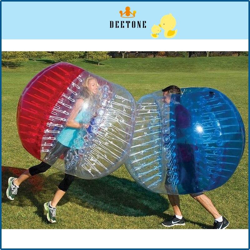 DEETONE 0.8mm PVC 1.5m Bubble Football Bubble Soccer Ball Inflatable Bumper Ball Inflatable Ball Air Soccer Ball