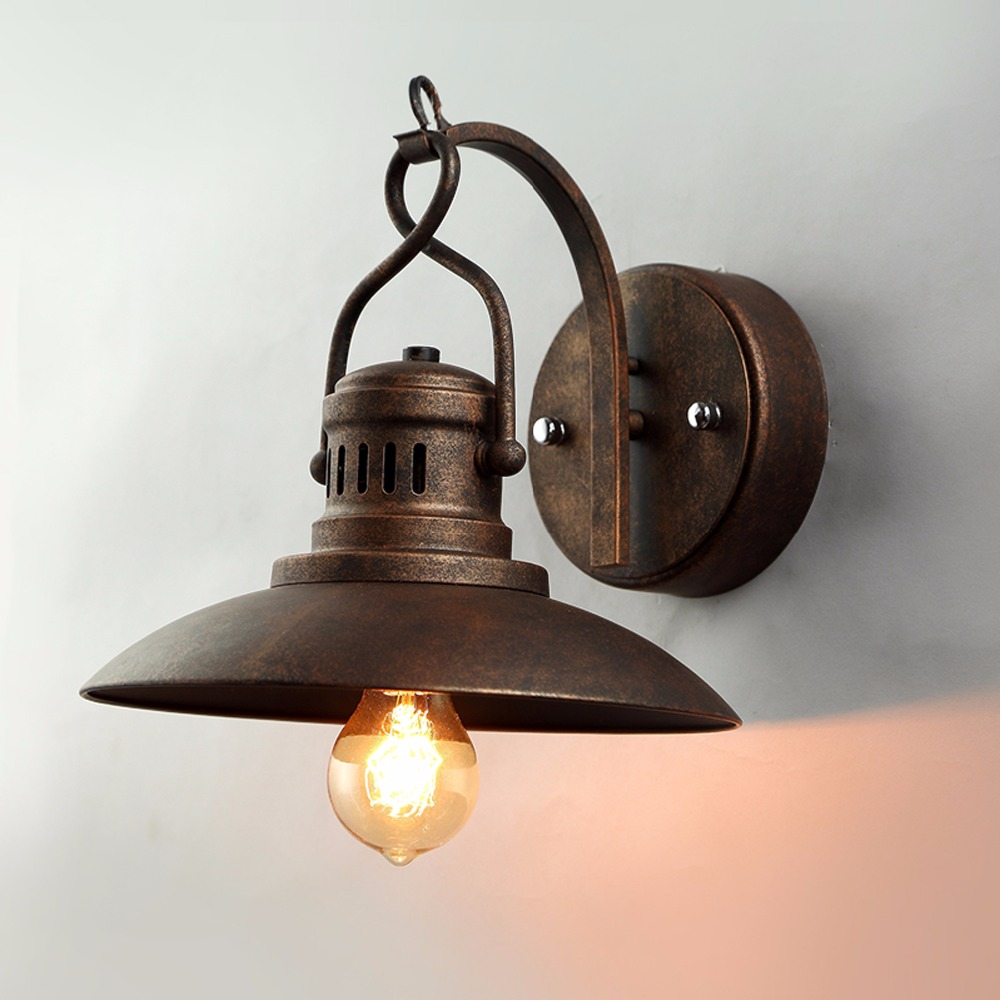 Halogen bathroom lighting - Vintage Industrial Wall Lamp Retro Loft E27 Wall Light Lamparas De Pared Stair Bathroom Iron Edison