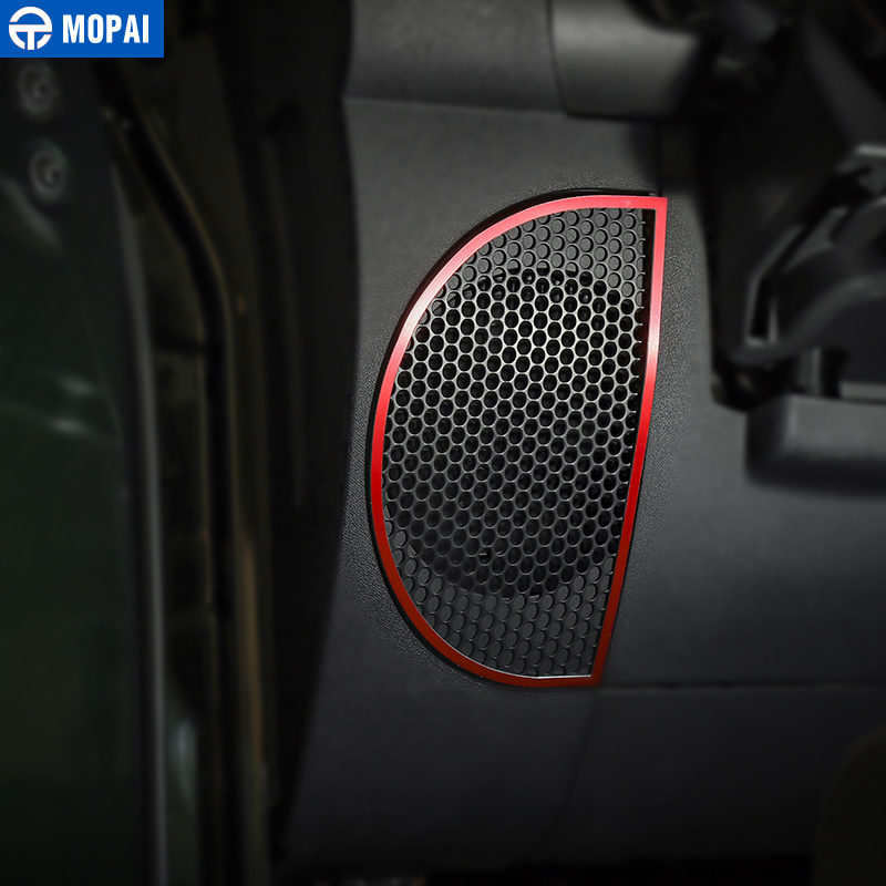 Image 2 - MOPAI Car Dashboard Audio Lound Speaker Decoration Ring Stickers for Jeep Wrangler JK 2007 2010 Interior Car Accessories Styling-in Interior Mouldings from Automobiles & Motorcycles