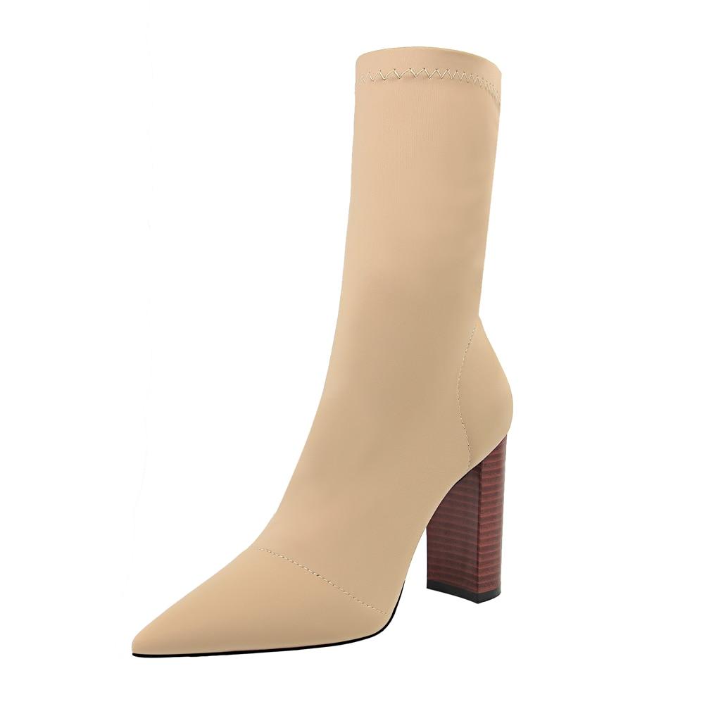 {D&Henlu}spring autumn stretch sock shoes women sock boots m