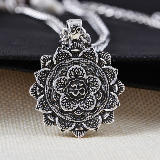 bazaar retro mandala image product necklace products tibet spiritual consciousness pendant