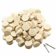Pulido de fieltro de lana con rueda redonda + 2 caña para Dremel rotativas